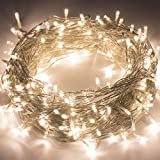 Quntis LED String Lights 100M 500LED CE Standard High Brightness Warm White Lights Safe Low Voltage Copper Wire Indoor Fairy Lighting for Christmas Wedding Party Garden Yard Tree