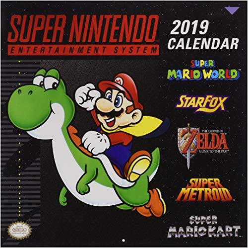 Super Nintendo Retro Art 2019 Wall Calendar