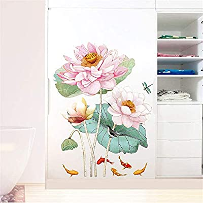 AAPBB Plant Flowers Art Decals Flower Wall Stickers Waterproof Vinyl Self Adhesive Removable Art Murals for Living Room Bedroom Nursery House DIY Decoration …: Kitchen & Dining