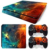 LLC Integral - Space Skin Decal Cover for Sony PlayStation 4 slim PS4 Console Gamepad pack Sticker + 2 Skins stickers for dualshock 4 Controller