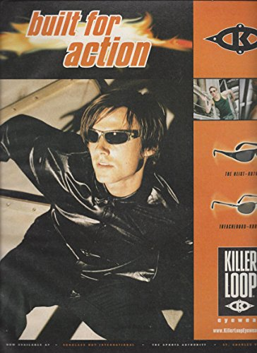 MAGAZINE ADVERTISEMENT For 1999 Killer Loop Sunglasses Built For - Loop Sunglasses Killer