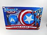 toybiz marvel super heroes - ToyBiz Marvel Comics Captain America Super Hero Play Set With Adjustable Mask & Shield