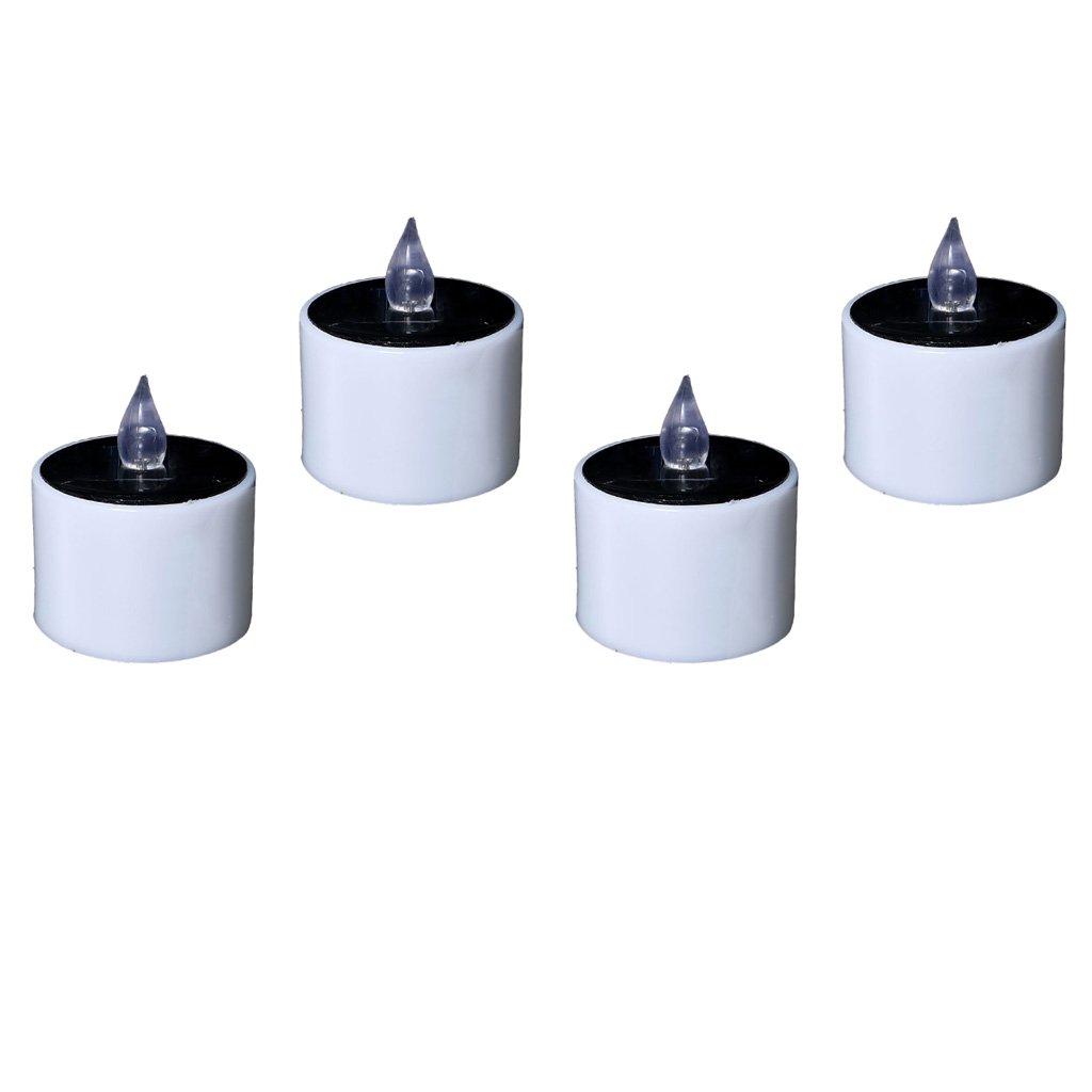 KESOTO 4 Pezzi Candele Elettriche A LED Ad Energia Solare Candle Lumini Illuminazione Accessori