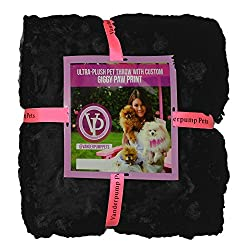 Vanderpump Pets Embroidered Plush Faux Fur Pet Blanket