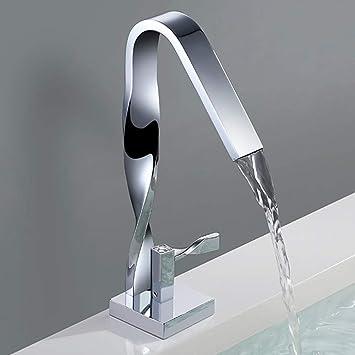 Jruia Elegant Design Wasserfall Waschtischarmatur Bad Waschbecken