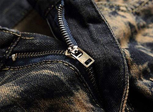 Jeans Abbigliamento Uomo Vintage Colour Di Da Pantaloni Con Tigre Denim In Applique Hrenjeans Strappati rwqn8rHY