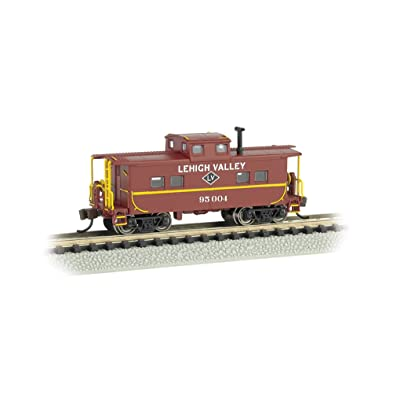 Bachmann Industries #95004 Northeast Steel Caboose Lehigh Valley, Tuscan Red, N Scale: Toys & Games
