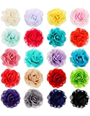 Leinuosen 20 Pieces Dog Collar Flowers Pet Bow Tie Flower Collars for Puppy Collar Grooming Accessories (5 cm, 20 Pieces)