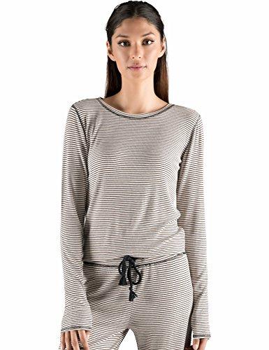 Sweatshirt Ribbed Rebels - Rebel Canyon Young Women's 3/4 Sleeve Stripe Ribbed Top Medium Pink Multi