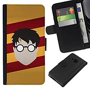 NEECELL GIFT forCITY // Billetera de cuero Caso Cubierta de protección Carcasa / Leather Wallet Case for HTC One M9 // Harry Nutria