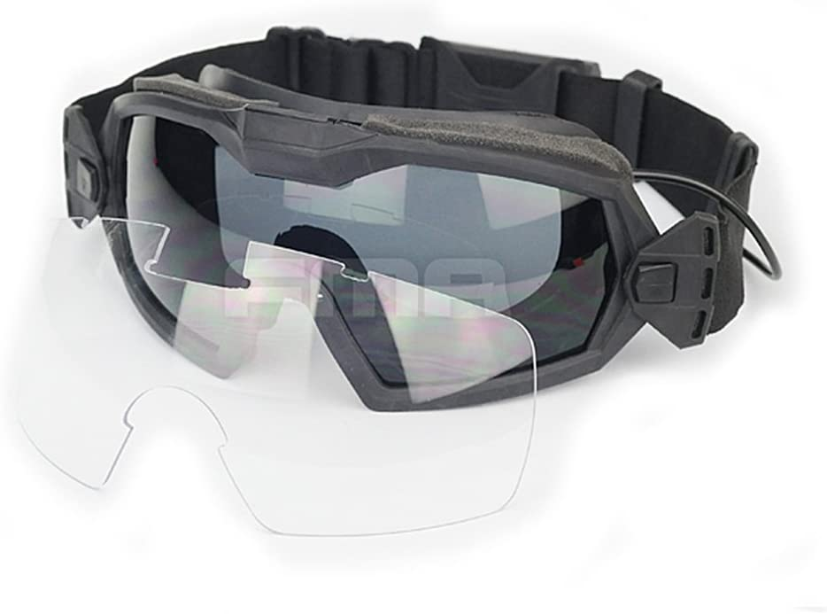 Gafas de protección con sistema de ventilación para práctica deportiva, ciclismo, conducción, tácticas, paintball, airsoft, esquí, snowboard, de color negro , negro