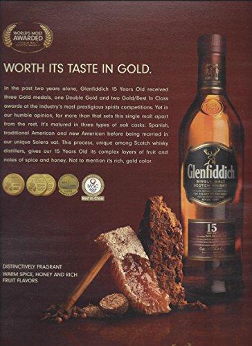 Honey Scotch (MAGAZINE ADVERTISEMENT For Glenfiddich 15 Year Scotch Honey & Spice Scene)
