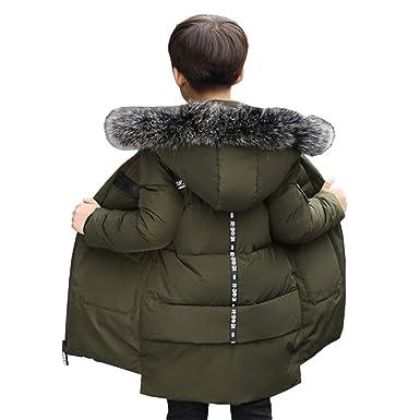 b69ea173f21d3 Hsfeo ダウンジャケット 子供服 男の子 ロング丈 ファー フード付き 中綿コート かっこいい jpg 385x385