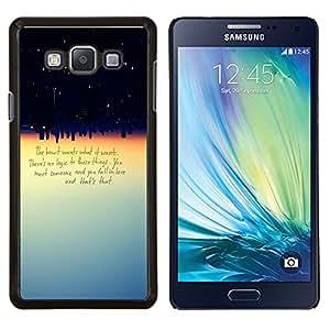EJOOY---Cubierta de la caja de protección para la piel dura ** Samsung Galaxy A7 A7000 ** --Corazón quiere lo que quiere cotización Amor Lógica