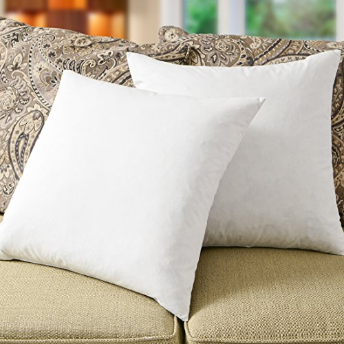 Simple Comfort Premium 95% Feather/5% Down Pillow Insert, Sham Stuffer (16