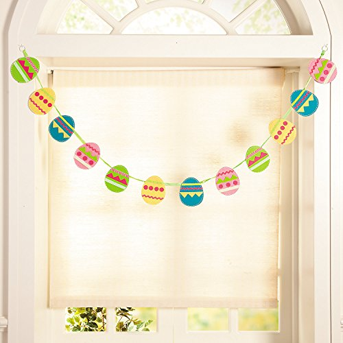 Fun Express - Layered Felt Easter Garland for Easter - Home Decor - Decorative Accessories - Home Accents - Easter - 1 Piece