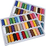 Doitb 2pcs 39 Rolls Assorted Color 200 Yards Per Unit Polyester Cotton Sewing Thread Spool Set