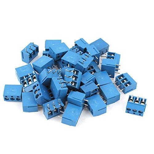 DealMux a14120100ux0375 38 Parte 3Way 3 Pó los PCB parafuso de bloco de terminais do conector, Afastamento 5 mm para fio 14-22AWG PT_DLM-B015VY0OF0