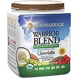 Sunwarrior - Warrior Blend, Raw, Plant-Based Protein, Chocolate, 20 Servings (1.1 lbs) (FFP)