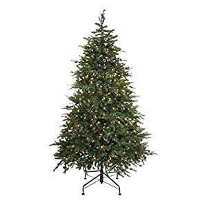 NORTHLIGHT NL03198 Clear Lights Artificial Full Christmas Tree, 7.5'