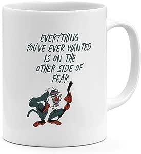 كوب قهوة بتصميم الأسد الملك القرد بحجم 325.4 مل من رافيكي اقتباس الأسد الملك 31.5 مل من السيراميك