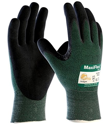ATG 34-8743/L MaxiFlex Cut - Black Micro-Foam Nitrile Coated Palm And Fingers - Large - 12 Pair Per Box
