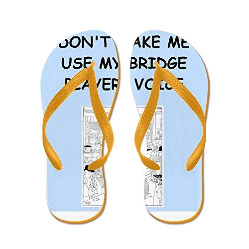 Cafepress Bridge2 - Flip Flops, Grappige String Sandalen, Strand Sandalen Oranje