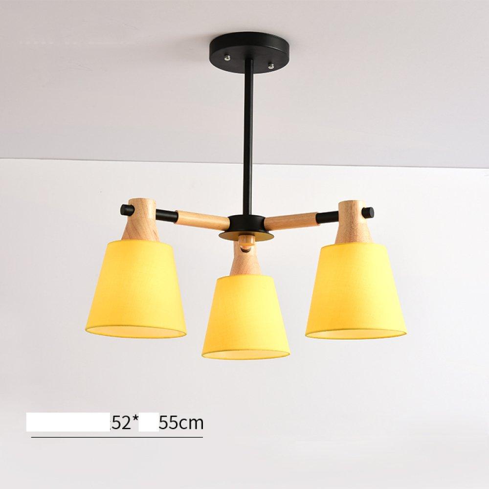 LRZZ Einfache Studie Wohnzimmer Lampe Atmosphäre Massivholz Runde Schlafzimmer Lampe Hause Beleuchtung Beleuchtung Nordic Restaurant Kronleuchter