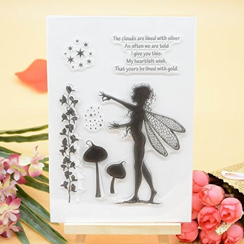 Welcome to Joyful Home 1pc Fairy Clear Stamp for Card Making Decoration and Scrapbooking WooYangFun