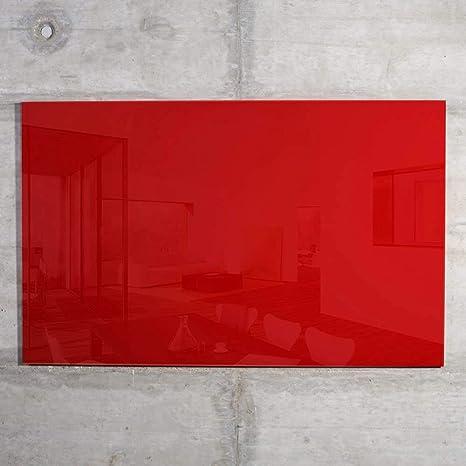 raum-blick Glas Magnettafel MAX 100x60 cm schwarz Magnetwand Magnetboard