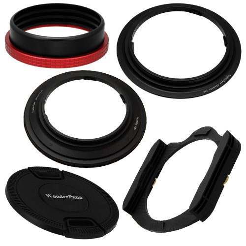 WonderPana Absolute 130 Kit - 130mm Filter Holder & Adapter Ring (fits Cokin X-Pro (XL) Filter System) and 145mm Filter Ring Upgrade with 145mm Heavy Duty Inner Pinch Lens Cap - for the Nikon 14-24mm f/2.8G ED AF-S Nikkor Wide Angle Zoom Lens