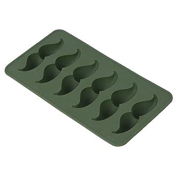 lukalook alimentos grado silicona Ice Cube bandejas Molde de barba forma moldes eléctrica herramienta de cocina: Amazon.es: Hogar