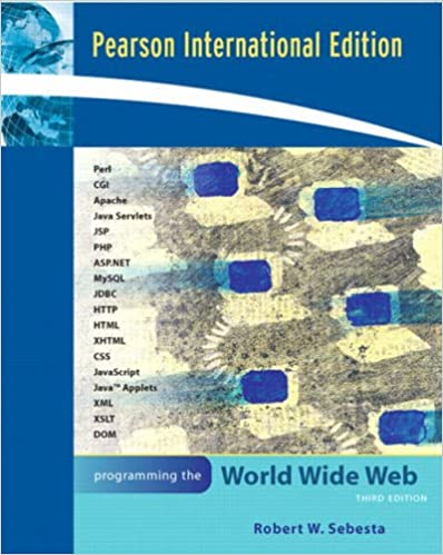 Book Programming the World Wide Web
