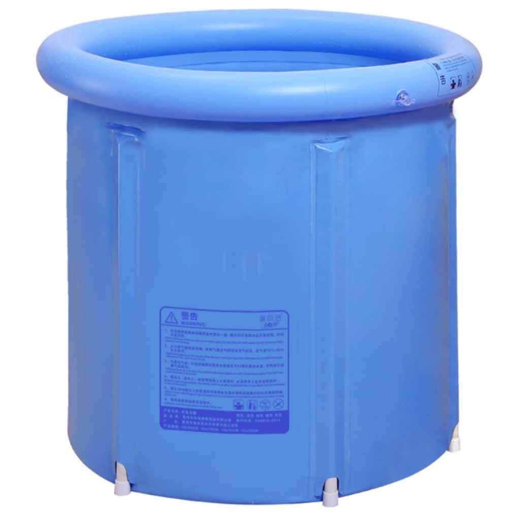 SZ JIAOJIAO Klapp Wanne Hellblaues Netz PVC-Bad Fass Aufblasbare Badewanne Dicke Kunststoff-Bad Fass Erwachsene Kinder Badewanne