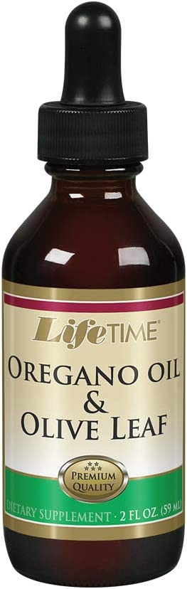 Lifetime Oregano Oil Olive Leaf Supplements, 2 Fluid Ounce