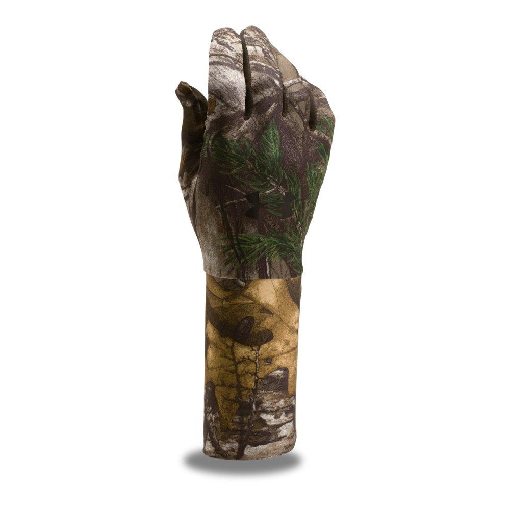 Under Armour Men's ColdGear Camo Liner Gloves, Realtree Ap-Xtra/Black, Large