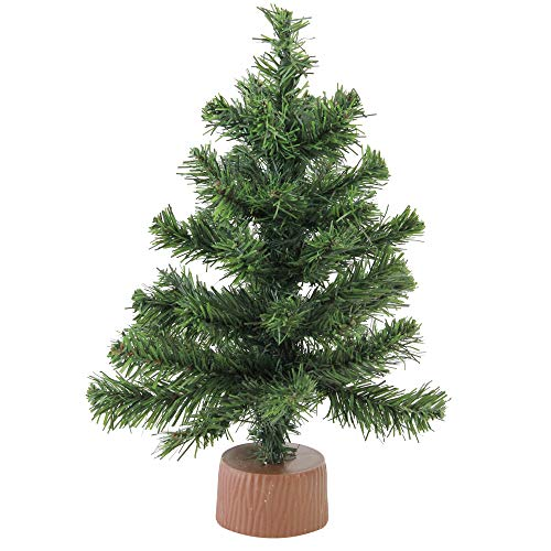 (Northlight Canadian Pine Christmas Tree in Faux Wood Base, Green)