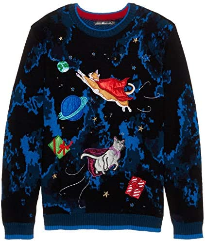 Blizzard Bay Mens Ugly Christmas Sweater Cat