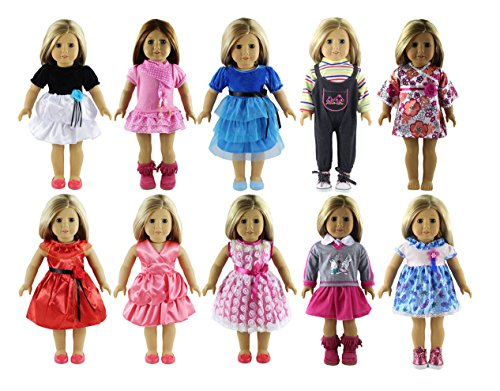 Dress Me Clothing (ADollMe 18 Inch Doll Clothes Set 10 Different Fits American Girls Doll, My Life Doll, Doll And Me, And My Generation Doll, 100% Guarrantee Loved By Daughter &)