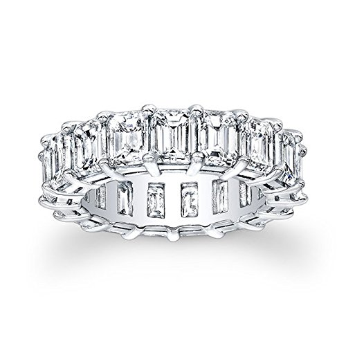 Real 1.70Ct Princess Cut Solitaire 14K White Gold Moissanite Wedding...