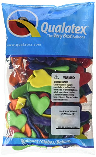 PIONEER BALLOON COMPANY 13763 HEARTS - CARNIVAL ASSORTMENT, 6