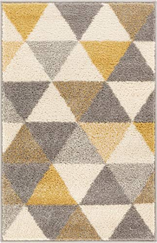 Well Woven Isometry Gold Amp Grey Modern Geometric Triangle