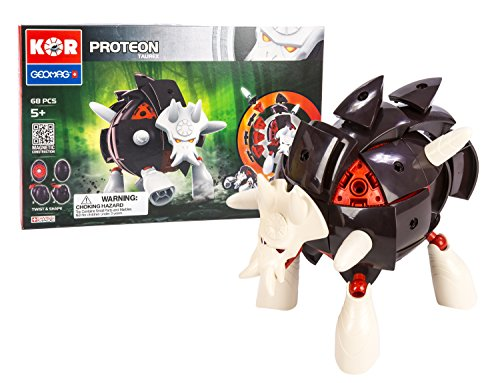 Geomag Kor Proteon Blatta Transformer – 68 Piece Creative Magnet Playset Toy – Swiss Made – Part of Geomag's World Famous Award Winning Product Line – Intermediate Level – Ages 5 and Up by Geomag