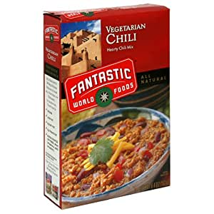 Fantastic World Foods Vegetarian Chili, 6.4-Ounce Boxes (Pack of 12)