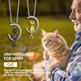Richsteel Moon Cat Cremation Jewelry for Ashes