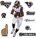 Todd Gurley FATHEAD Los Angeles Rams Logo Set Official NFL Vinyl Wall Graphics 16'''' INCH