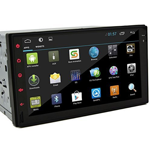 Android 4.2 Car Radio ALL-Touch Tablet none-Disc DVD Player 7 inch Double Din In Dash Capacitive HD Multi-Touch Screen GPS Navigation Radio Stereo Support Bluetooth/SD/USB/Ipod/Iphone/AM/FM/AV-IN/3G/Wifi (Price Lowest Ipod Touch)