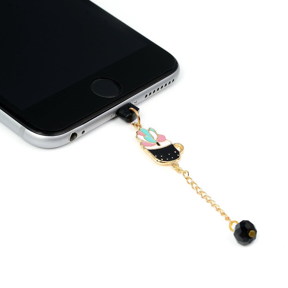 for iPhone Xs for iPhone XR KASOS Dust Plug-Earphone Jack Accessories Bling Shiny Glitter Sparkle Diamonds Rhinestones Gems with Tassel//Cell Charms//Dust Plug//Ear Jack for iPhone Xs Max