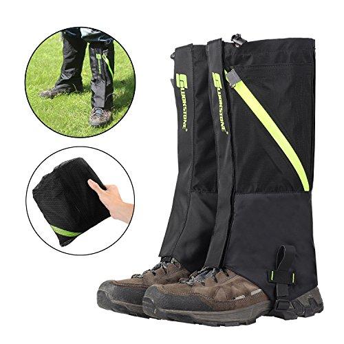 AMYIPO Unisex Snow Leg Gaiter, Front Opening Design Gaiter, Hiking Boots Gaiters Waterproof Gaiters