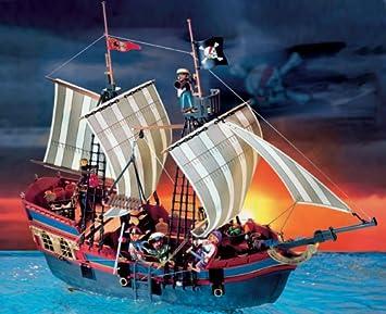 Playmobil - 3940 - Grand bâteau de pirates: Amazon.fr: Jeux et Jouets
